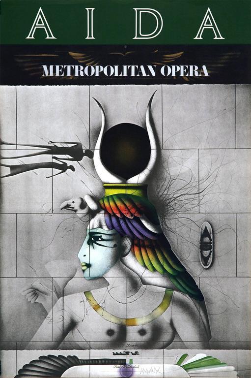 Paul Wunderlich Figurative Print - Aida Met Opera Poster