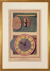 Clock with Internal Winding Gear
