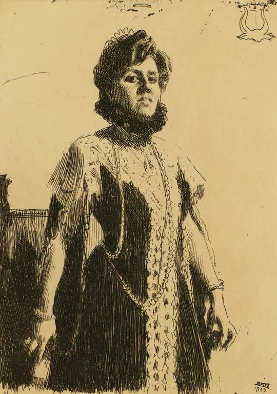 Portrait of Miss Oxenstierna - Print by Anders Zorn