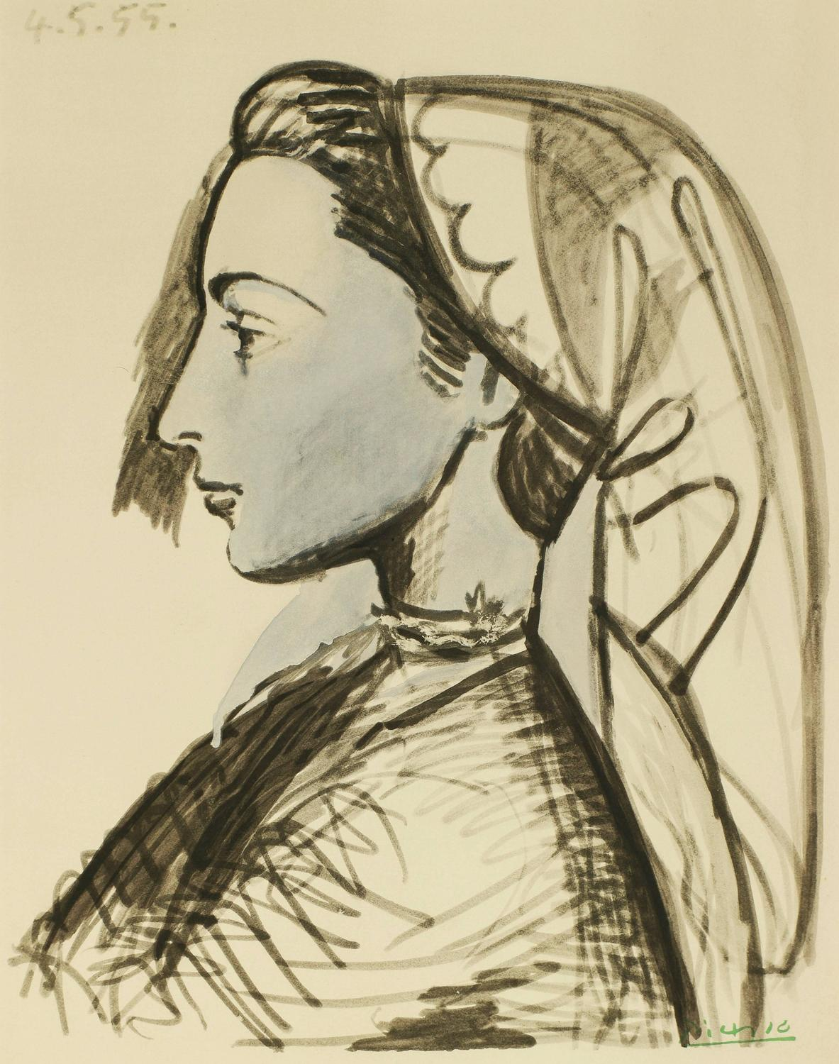 Pablo Picasso Portrait Of Jacqueline At 1stdibs