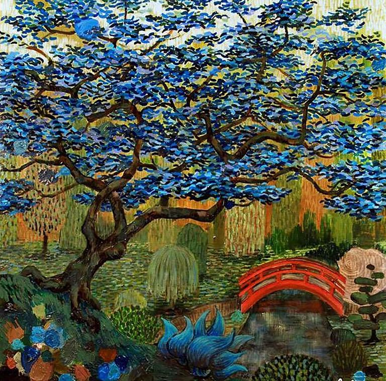 Rodger Schultz Landscape Painting - Japanese Garden No. 5