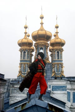 Leningrad: Gilded Domes of the Catherine Palace in nearby Pushkin