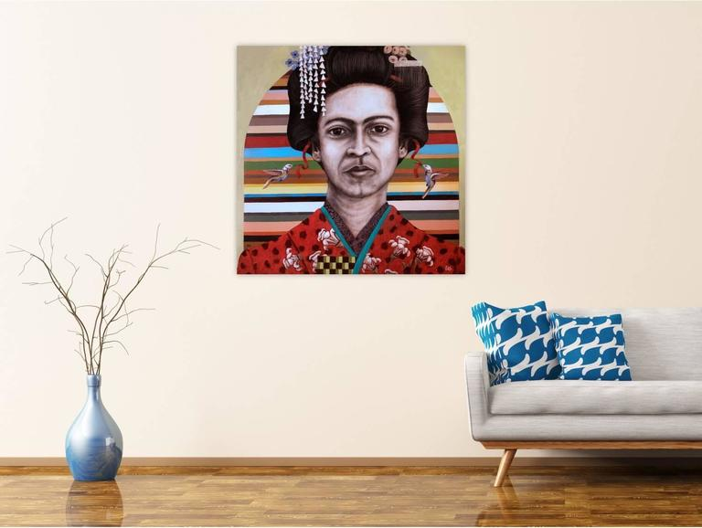 Geisha Frida  - Painting by Rodger Schultz