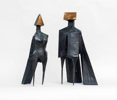 Maquette V, Two Winged Figures