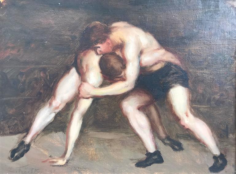 "Leonid Frechkop - ""Les Lutteurs""/ The Wrestlers 1"