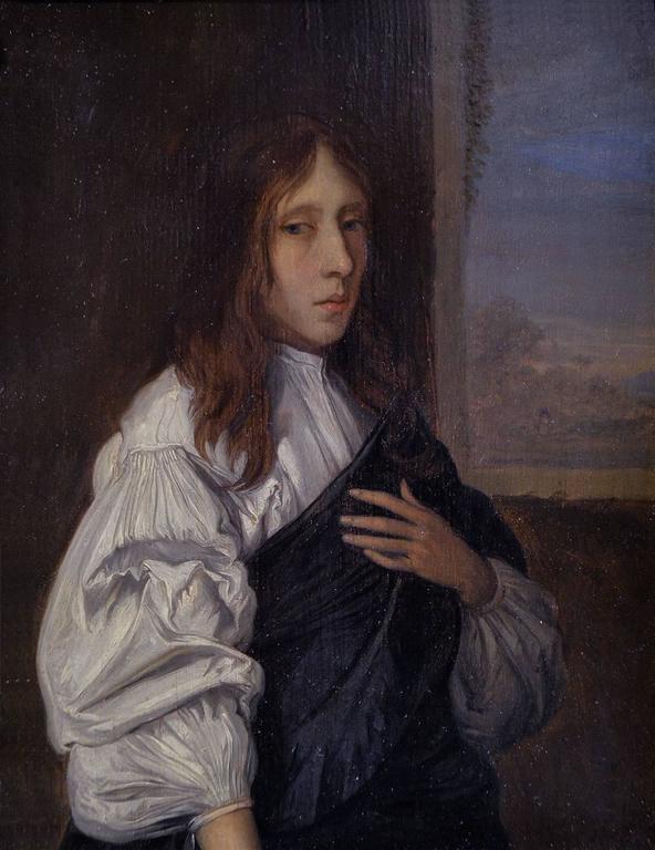 Pieter Harmensz Verelst Portrait Painting - Portrait of a Young Man