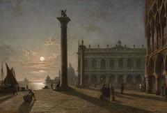 Outside the Doge's Palace, Venice