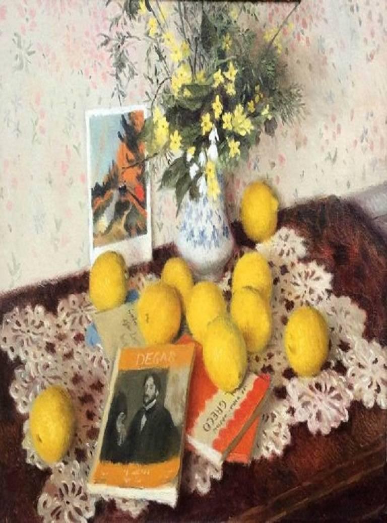 Gordon Scott Still-Life Painting - Homage to Degas