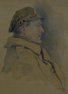Unknown Officer in Trench Cap
