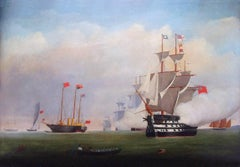 HMY VICTORIA AND ALBERT INSPECTING THE FLEET OFF PORTSMOUTH