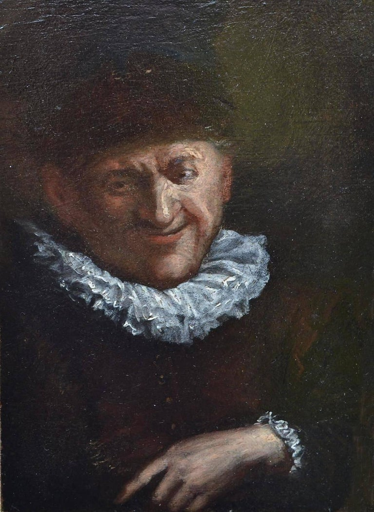 Cornelis Dusart Portrait Painting - Portrait of a Man