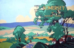 Somerset by Maxwell Fraser (original painting for book cover)