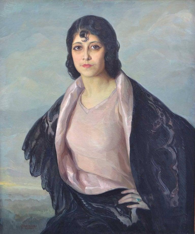 Julio Moisés Fernández de Villasante Portrait Painting - Portrait of a Young Woman