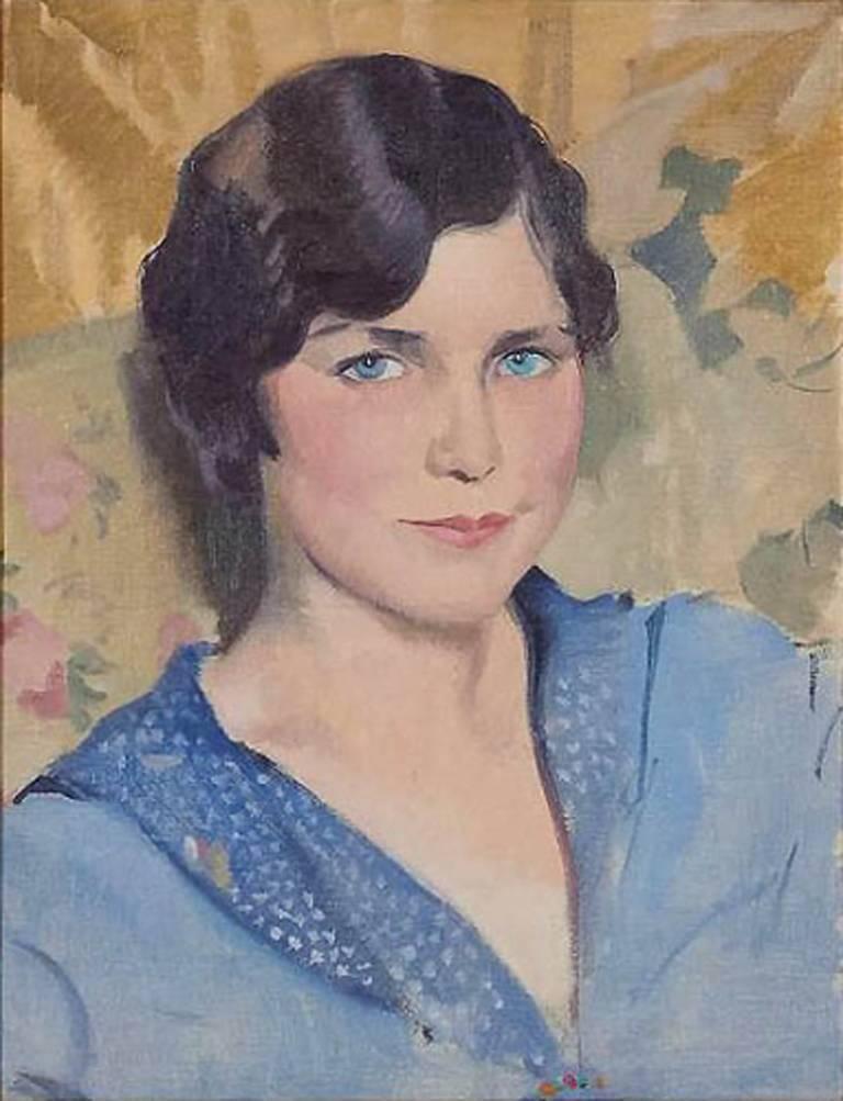Herbert James Gunn Portrait Painting - Portrait of the Artist's Wife