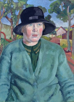 Portrait of Dorothy Cox - Oil Portrait 20th Century