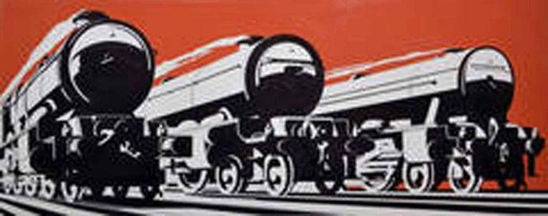 Frank Newbould Figurative Art - Future of Steam - GWR Poster Original Artwork, Art Deco