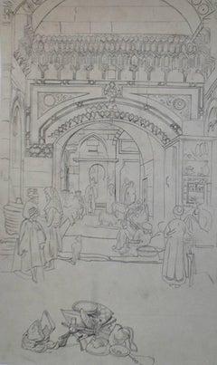 Alleyway in Cairo - Original Sketch