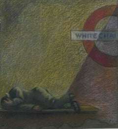 Whitechapel - London, pastel, mid 20th Century