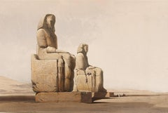 THEBES - COLOSSAL STATUES OF AMUNOPH III Many other Roberts lithographs availabl