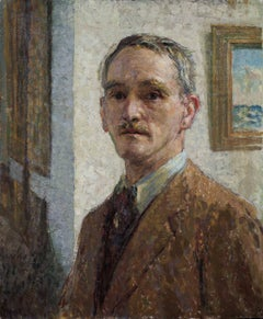 Self Portrait - 20th Century Oil on Canvas