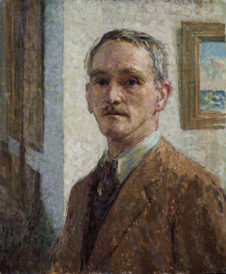Gerald Goddard Jackson Portrait Painting - Self Portrait - 20th Century Oil on Canvas
