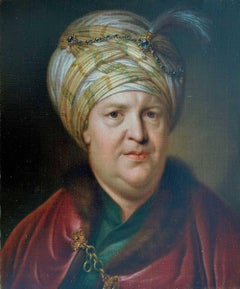 Portrait of a Gentleman in Levantine Dress - Orientalist