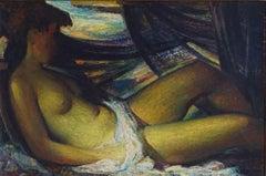 Reclining Nude, 20th Century Oil