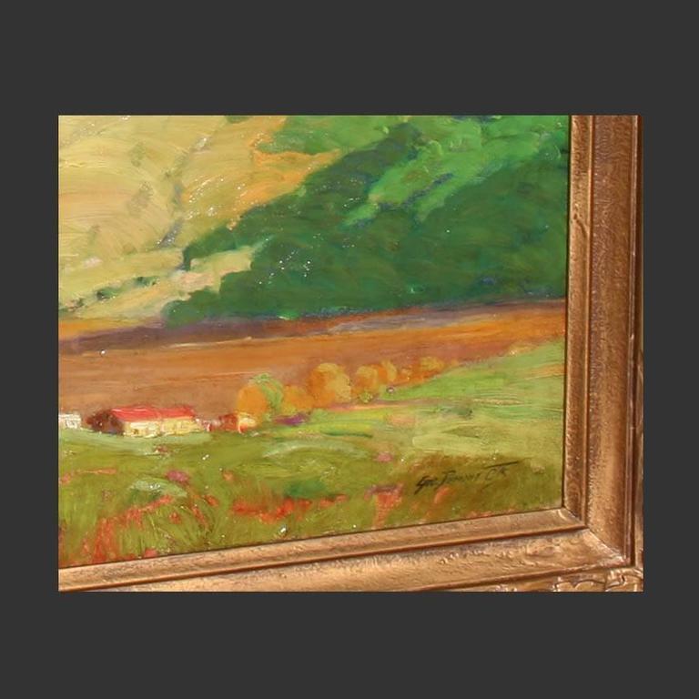 George Demont Otis Mountain Landscape California Oil