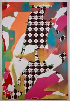 Zeke Williams, Pinwheel, contemporary abstract acrylic on canvas