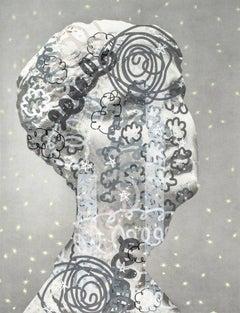 Rachel Livedalen, It Girl (Female Head), screenprint on archival inkjet paper