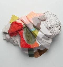 Josephine Durkin, Highlighter 14a, plastic and pastel abstract wall sculpture
