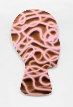 Kevin Todora, Pink Tapeworm, direct inkjet on MDO photography wall art