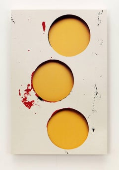 Kevin Todora, three yellow holes, direct inkjet on MDO photography wall art