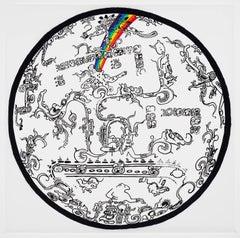 Rene Trevino, Ascension (Rainbow Roar), framed acrylic on mylar wall painting