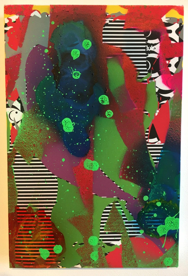 Zeke Williams, Out of the Shadows, archival inkjet and acrylic wall painting - Painting by Zeke Williams