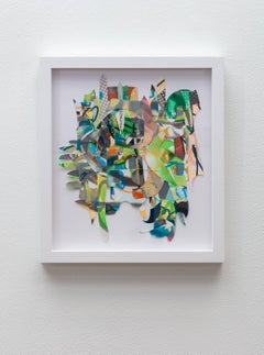 Rachel Livedalen, Baby Boom, collage of screen prints on paper framed wall art