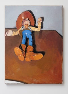 Oliver Clegg, Untitled Toy Story Woody, oil on canvas unframed painting