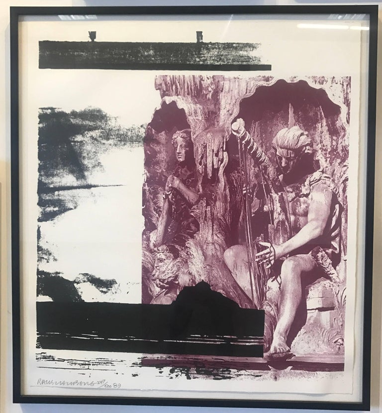 Robert Rauschenberg, Dallas Cares, signed framed limited edition lithograph