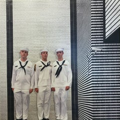 Daniel Mirer, 3 Sailors, photograph print on wood