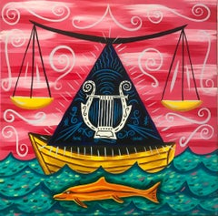 Rodney Alan Greenblat, Balance, acrylic on canvas wall painting