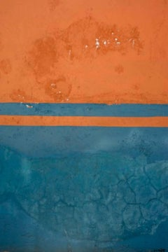 Gary Goldberg, Untitled #21, blue and orange Mexican wall photography print