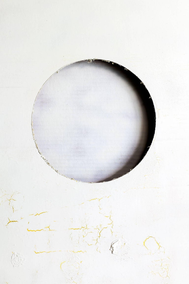 Kevin Todora, white moon, direct inkjet photograph on MDO contemporary wall art