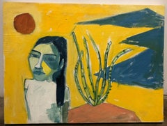 Cruz Ortiz, Yanaguana Girl Dreamin in Tornillo, Mexican American wall painting