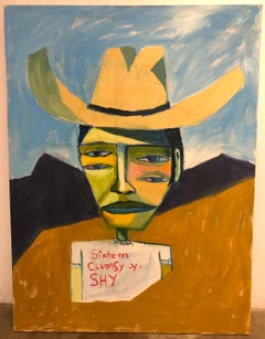 Cruz Ortiz, Border Checkpoint Just Passed Marfa, Mexican American fine art