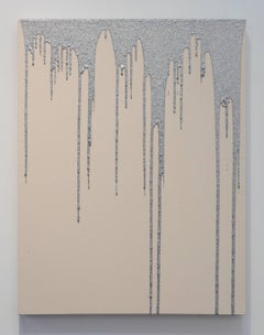 Chivas Clem, Untitled, glitter suspended in resin on canvas wall painting