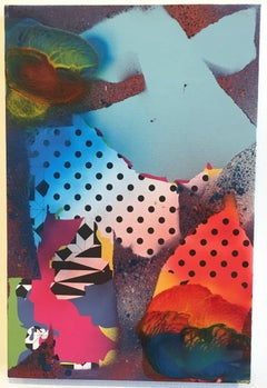 Zeke Williams, Dot Swamp, archival inkjet and acrylic on canvas wall painting