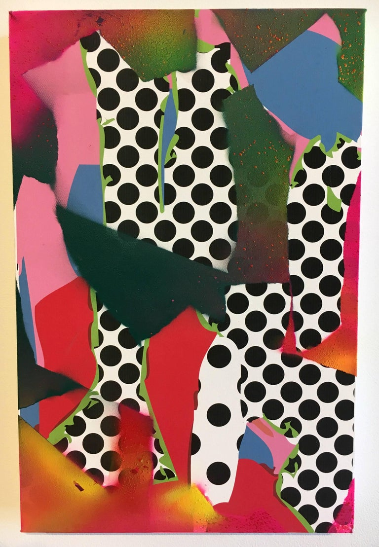 Zeke Williams, Dot Co, abstract archival inkjet and acrylic wall painting