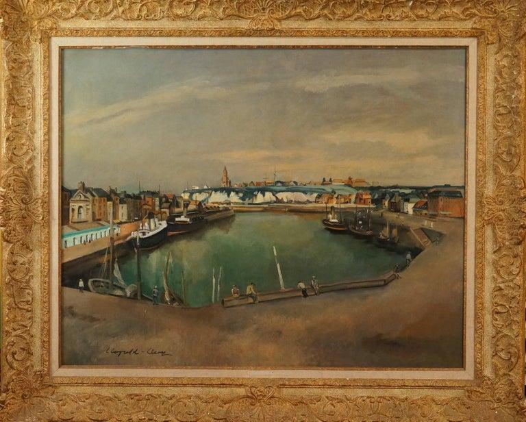 Léopold Lévy Figurative Painting - Vue Du Vieux Port De Dieppe