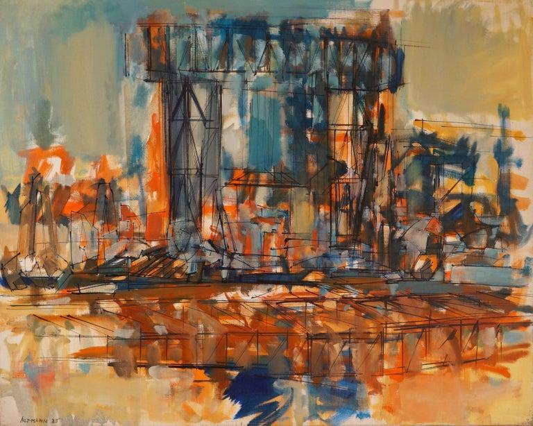 Altmann Gérard Abstract Painting - L'Estaque
