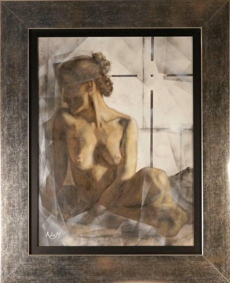Unknown Figurative Painting - Femme d'un Soir